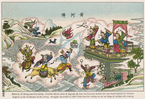 Obraz na plátně Lao-Tse Wins Victory. Date: circa 1914