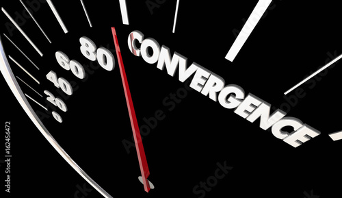 Valokuva  Convergence Joining Together Speedometer Success 3d Illustration