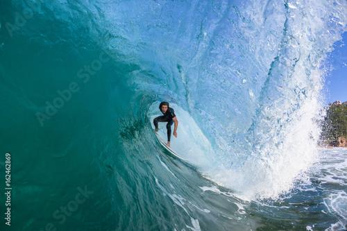 Plakat Surfing Surfer Inside Wave Water Action