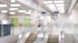 Blur view of metro station in Hong Kong