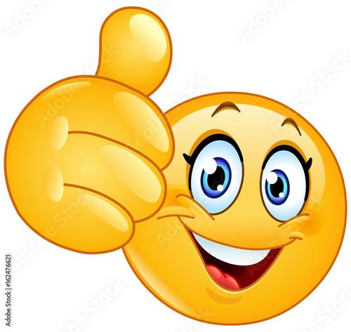 Foto  Thumb up female emoticon