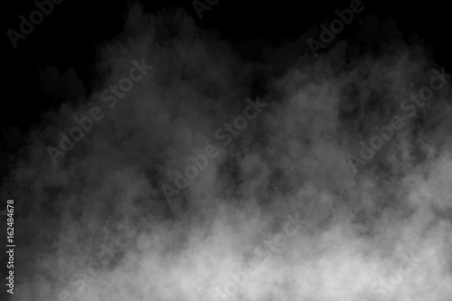 Printed kitchen splashbacks Smoke Fog or Smoke on black Background