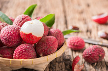 Fresh Organic Lychee Fruit On ...