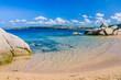 Cute sandy beach near Porto Rafael, Palau, Sardinia, Italy
