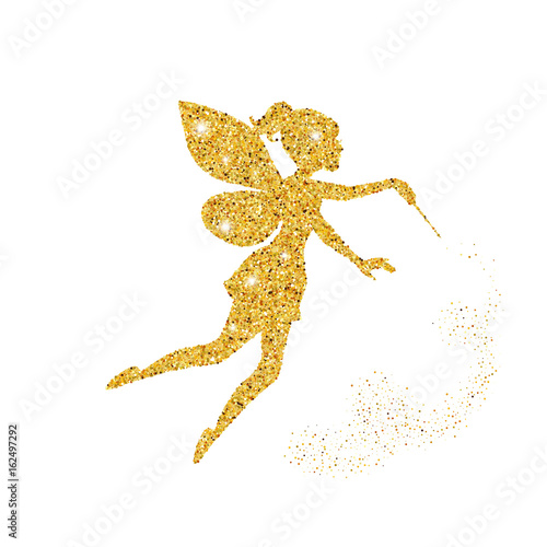 Magical fairy with dust glitters Fototapet