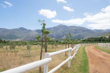 Off Road Track Through The Farm Land