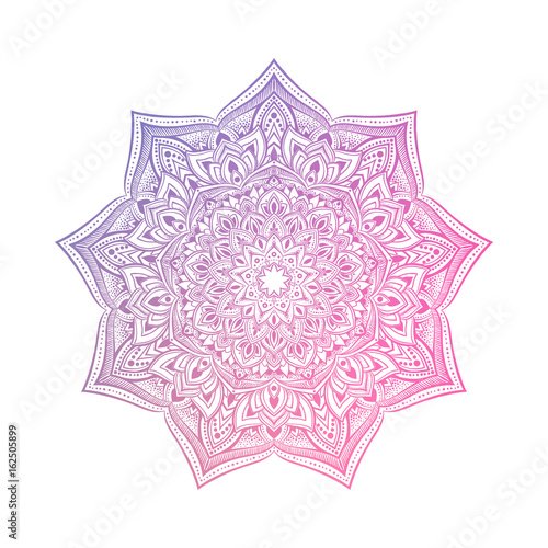 Photo  Hand drawn abstract mandala design