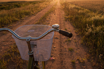 Fototapeta na wymiar Bikes in the countryside,
