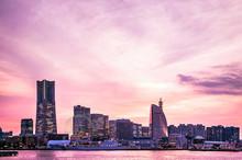Yokohama Skyline, Sunset