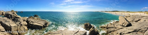 Staande foto Kust côte et plage à Lesconil bretagne