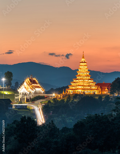 Temple wat hyua pla kang (Chinese temple) Chiang Rai, Asia Thailand, They are pu Canvas Print