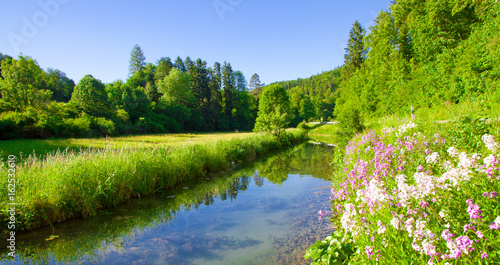 Poster Rivière de la forêt Schönes Lautertal auf der schwäbischen Alb