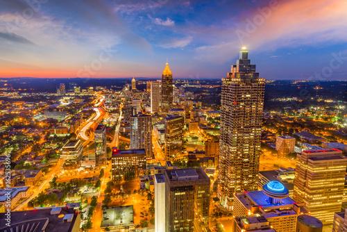 Keuken foto achterwand Verenigde Staten Atlanta, Georgia, USA skyline at dusk.
