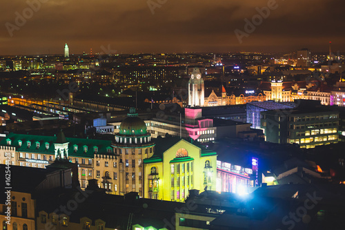 Photo  Beautiful super wide-angle summer aerial view of Helsinki capital, Finland with