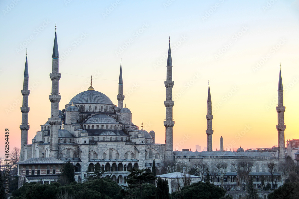 Foto  The Blue Mosque in Istanbul, Turkey