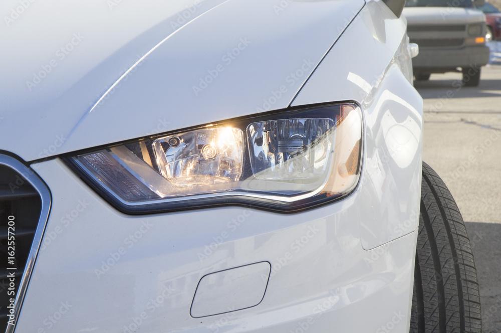 Fototapeta Audi car headlight - obraz na płótnie
