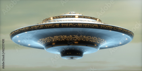 Fototapety, obrazy: UFO Alien Spaceship / Clipping Path Included