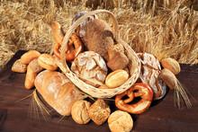Leckeres Brotsortiment