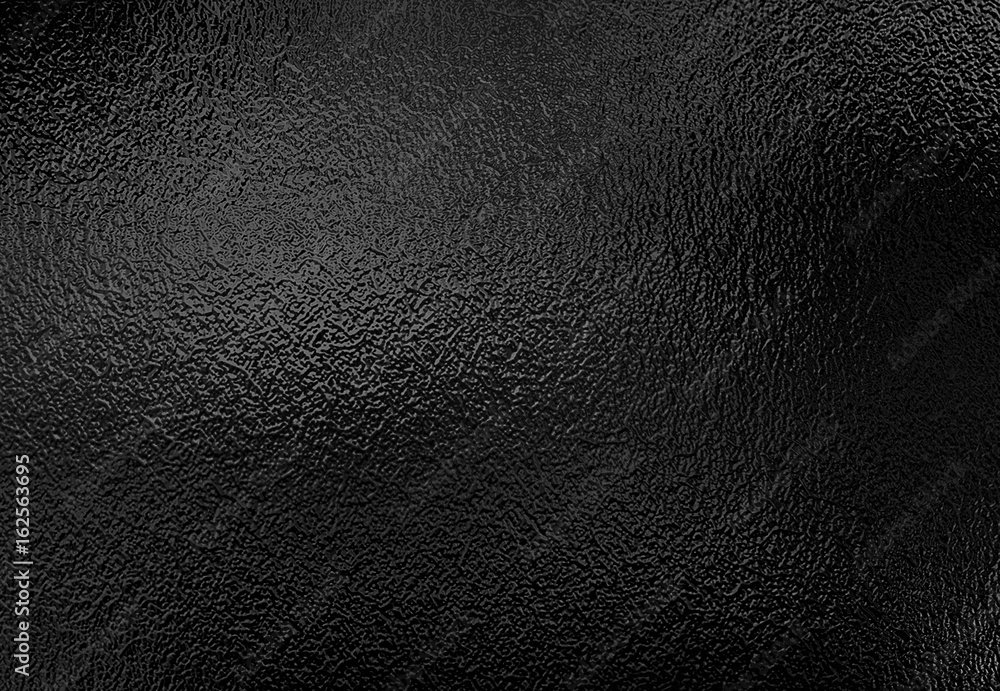Fototapeta Background texture of shiny black metal foil