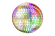canvas print picture - Mirror disco ball, 3D rendering