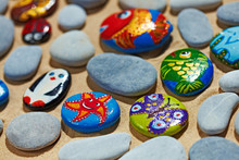 Rounded Colorful Stones Pebble...