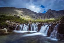 Fairy Pools Waterfalls On Clou...