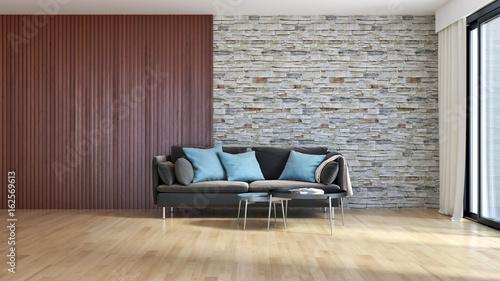 Fototapety, obrazy: Modern bright living room lounge interior. 3D rendering