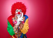 Front View Portrait Of A Clown...