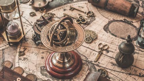 Stampa su Tela Armillary Sundial Zodiac Spherical Astrology