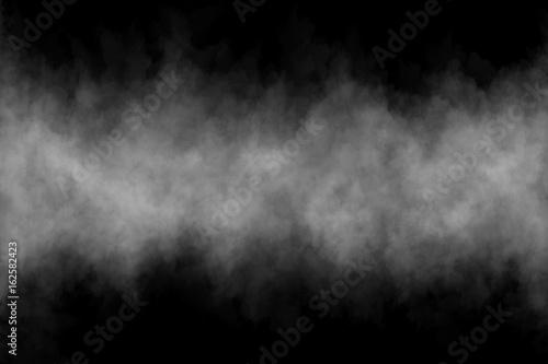 Fotobehang Rook Fog or Smoke on black Background