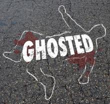 Ghosted Chalk Outline Dead Body Illustration