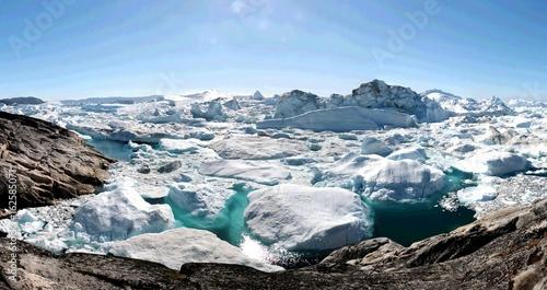 Poster Glaciers Ilulissat Ice Fjord near Ilulissat in Summer