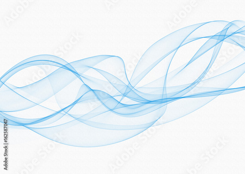Poster Abstract wave Turquoise smoke or fog isolated on white background