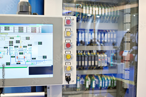 Photo  Control panel for automatics of engines and pumps