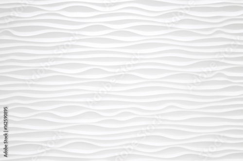Texture pattern of modern white seamless wave wall for background