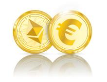 Golden Coins Ethereum Euro Mirror
