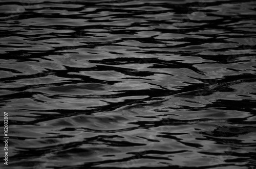 obraz lub plakat black and white water wave texture