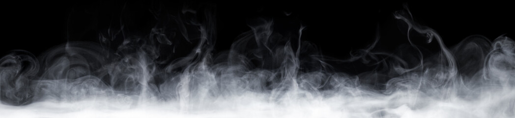 Abstract Smoke In Dark Back...
