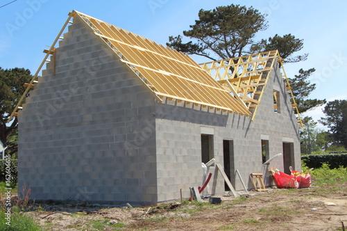 Photo  Chantier de maison en construction