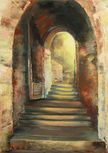 Stone Stairway In The Arch Thr...