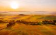 Gorgeous Toscana landscape at sunrise