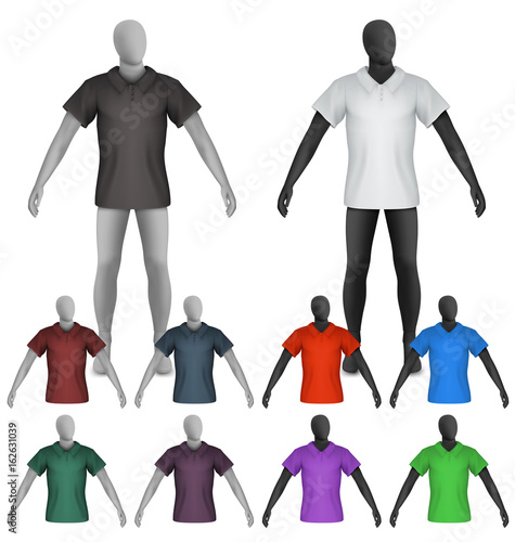 plain polo shirt on mannequin torso template buy this stock vector