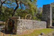 Yulee Sugar Mill Ruins Historic State Park In Homosassa Florida USA