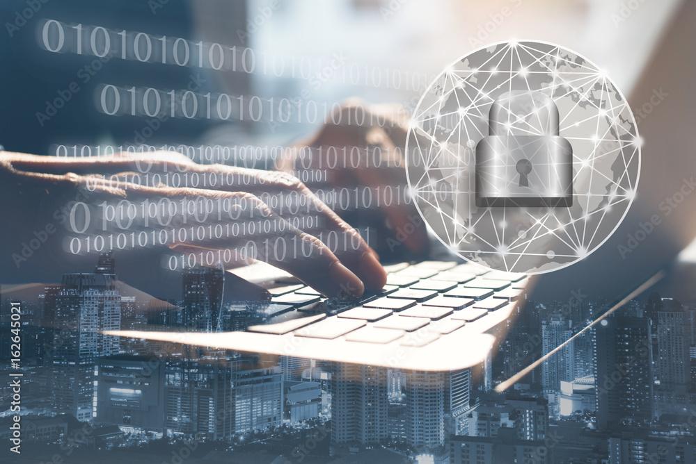 Fototapeta Cyber security concept