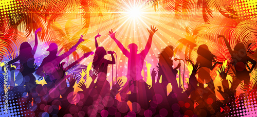 Summer concert - Disco-party Canvas Print