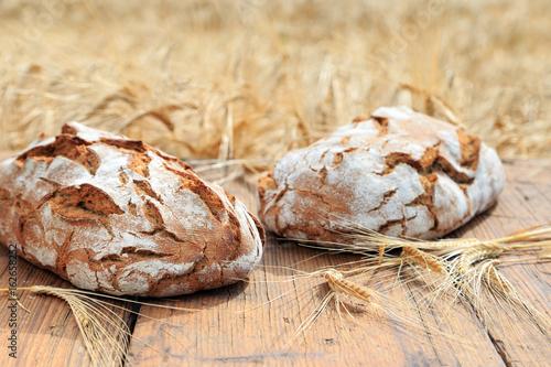 traditionell gebackenes Brot Fototapete
