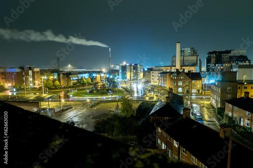Photo Nottingham skyline at night looking towards BBC roundabout