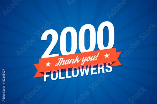 Fotografia  2000 followers card