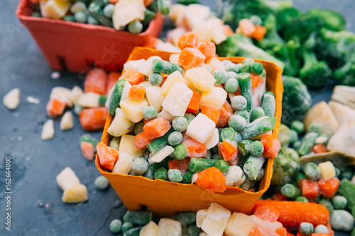Fotomural  Frozen vegetables Mexican mix