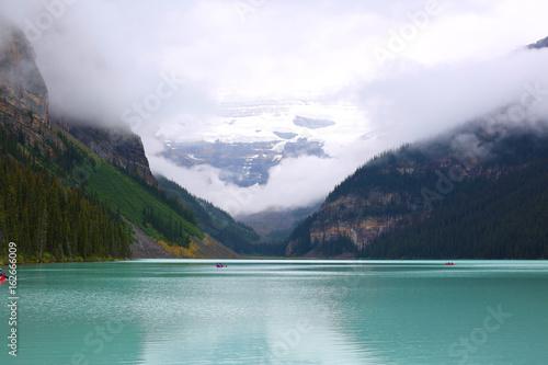 Plakat Sceniczny Jeziorny Louise w Alberta, Banff park narodowy, Kanada